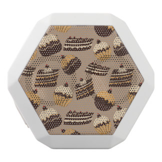 Chocolate and pastries pattern 3 white boombot rex bluetooth speaker