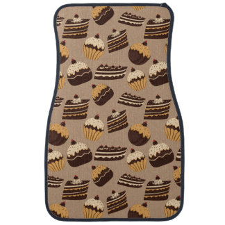 Chocolate and pastries pattern 3 car mat