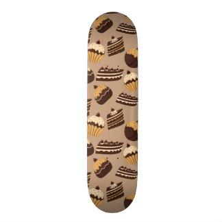 Chocolate and pastries pattern 3 skate decks