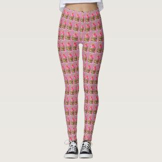 Chocolate and Raspberry cupcake leggings