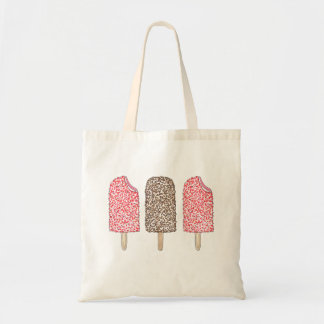 Chocolate and Strawberry Popsicles Tote Bag