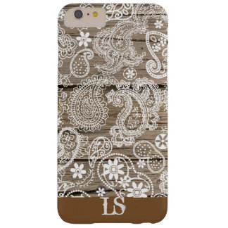 Chocolate and White Paisley Barely There iPhone 6 Plus Case