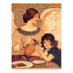 Chocolate Angel Vintage French Candy Poster Postcard