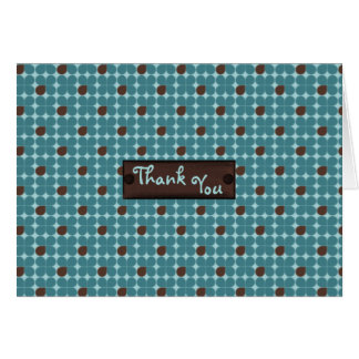 Chocolate Aqua Bubbles Thank You Custom Card