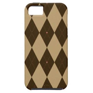 Chocolate Argyle Tough iPhone 5 Case