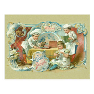 Chocolate Bakers Antique Postcard
