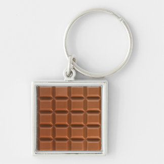 Chocolate bar background key chain