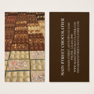 Chocolate Bar Candy Chocolatier Shop Pastry Chef Business Card