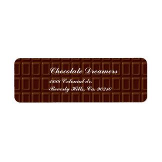 Chocolate Bar Return Address Label