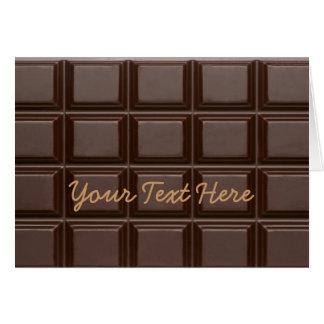 Chocolate Bar Sweet Greeting Card
