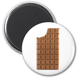 Chocolate bar with a missing bite magnet