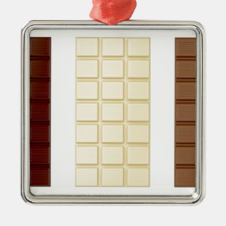 Chocolate bars metal ornament
