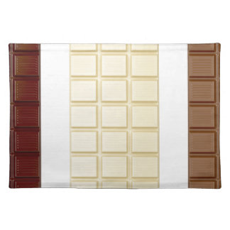 Chocolate bars placemat