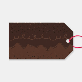 Chocolate Birthday Cake Frosting Gift Tags