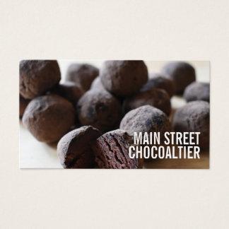 Chocolate Bon Bon Truffles Candy Chocolatier Shop Business Card