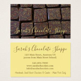 Chocolate Bonbon Chocolatier Candy Shop Sweet Food Business Card
