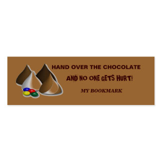 Chocolate Bookmark Business Cards