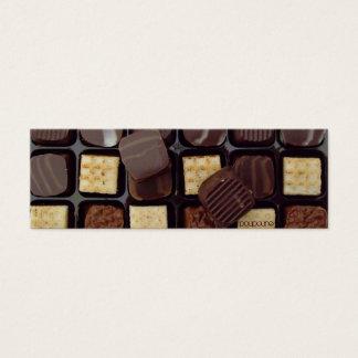 chocolate bookmark mini business card