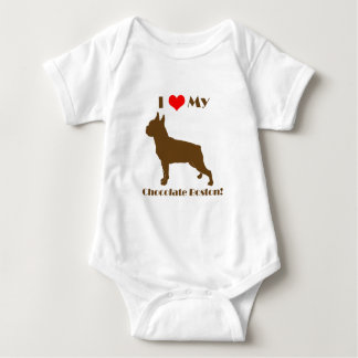 Chocolate Boston Terrier - Infant Creeper