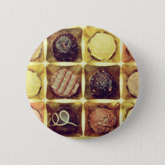 Chocolate box round badge