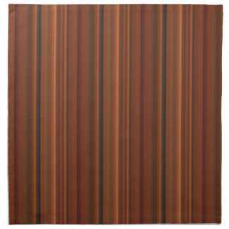 Chocolate Brown and Wine Striped Napkins