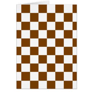 Chocolate Brown Checks Card