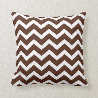 Chocolate Brown Chevron Stripe Pillow