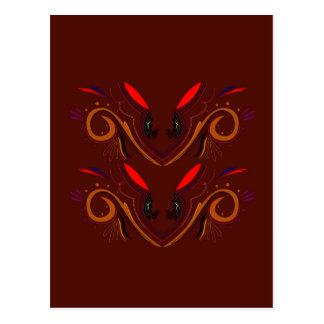 Chocolate brown design postcard