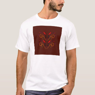 Chocolate brown design T-Shirt