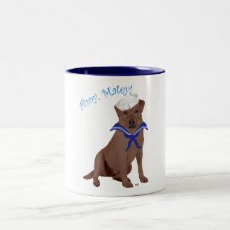 Chocolate Brown Labrador Retriever Two-Tone Coffee Mug