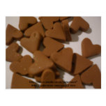 Chocolate Brown love hearts Postcard