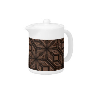Chocolate Brown Mosaic Porcelain Teapot