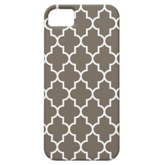 Chocolate Brown Quatrefoil Barely There iPhone 5 Case