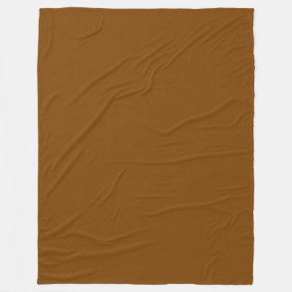 Chocolate Brown Solid Colour Fleece Blanket