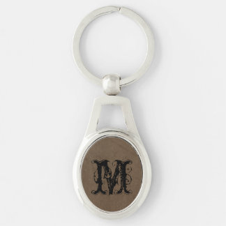 Chocolate Brown Textured Look Keychain