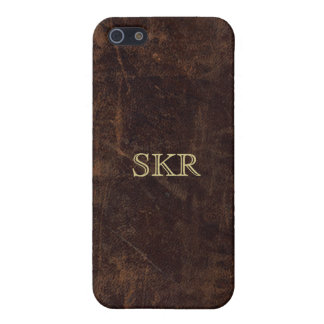 Chocolate Brown Vintage Leather Look Cover For iPhone 5/5S