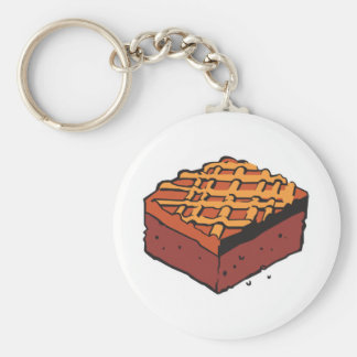 chocolate brownie basic round button key ring