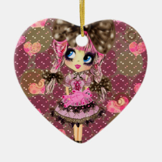 Chocolate Bubbles Kawaii Sweet Lolita PinkyP Ceramic Ornament