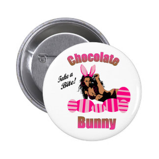 Chocolate Bunny Button