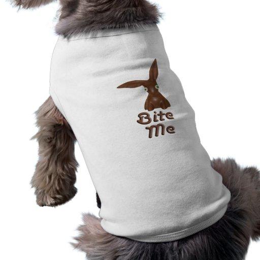 Chocolate Bunny Dog Shirt