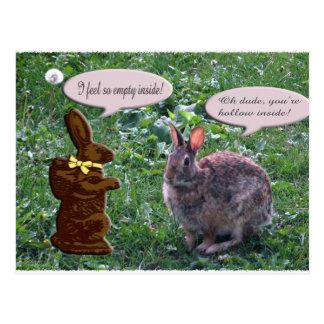 Chocolate Bunny Postcard