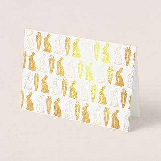 Chocolate Bunny Rabbit Carrot Easter Candy Bunnies Foil Card