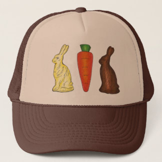 Chocolate Bunny Rabbit Carrot Easter Candy Hat