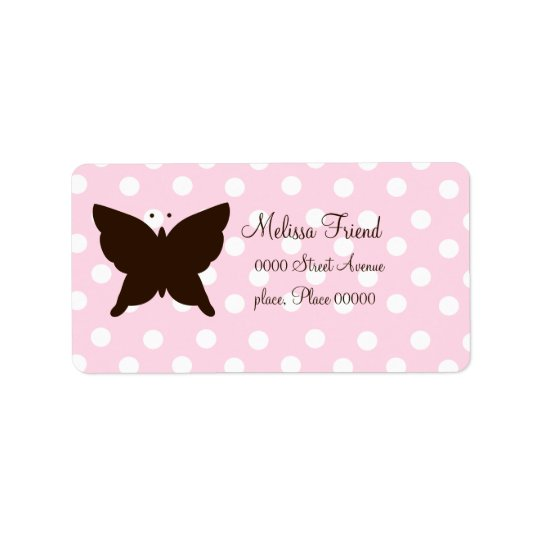 Chocolate Butterfly Address Label