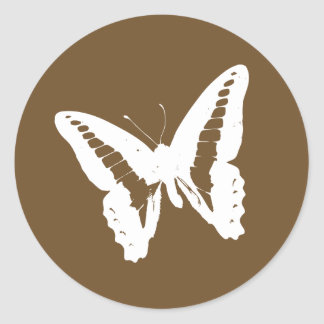 Chocolate Butterfly Envelope Sticker Seal