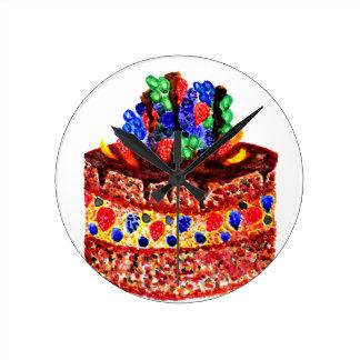 Chocolate Cake 2 Wall Clock