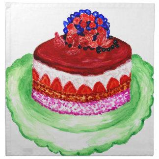 Chocolate Cake 3 Napkin