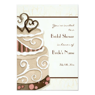 Chocolate Cake Bridal Shower Invitation