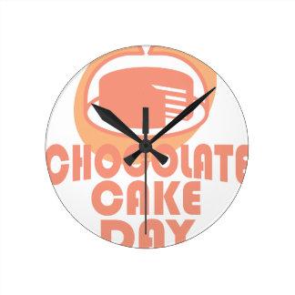 Chocolate Cake Day - Appreciation Day Round Clock