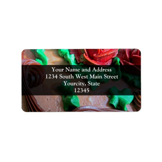 Chocolate Cake Decorating Address Label